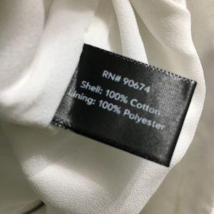 Boston Proper Shorts - Boston Proper white denim embroidered shorts sz 4